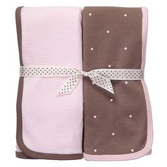 Carter's 2-pk. Pink & Brown Swaddle Blankets « Clothing Impulse