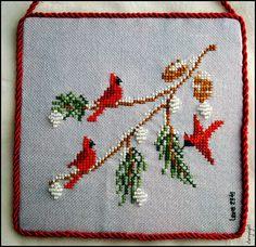Xmas Cross Stitch, Cross Stitch Christmas Ornaments, Cross Stitch Love, Cross Stitch Needles, Cross Stitch Cards, Cross Stitch Samplers, Christmas Cross, Counted Cross Stitch Patterns, Cross Stitch Designs
