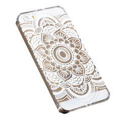Coque mandala blanc Iphone - 4S / 5 / 5S / 6 chez Pretty Wire Home (6,90 euros)