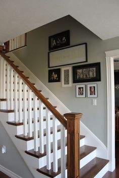 Ideas for Painted Stairs #PaintedStairs White Painted Stairs Ideas