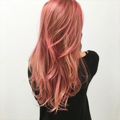 Hair via Rose Gold Hair, Colorful Hair, Summer Hairstyles, Hair Inspo, Hair Color, Long Hair Styles, Beauty, Summer Hairdos, Haircolor