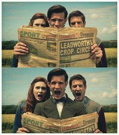 Doctor Who season6 - The Doctor and the Ponds #MattSmith #KarenGillan #ArthurDarvill