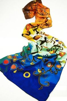 """Van Gogh's """"Irises"""" Beautiful Long Silk Scarf Shawl by AMC. $15.99. Great for fall winter season. The thicker, the more expensive.. Charmeuse is a more expensive variety within silk. Must have item. 100% luxurious 12-momme Charmeuse Silk.. Features:100% luxurious 12-momme Charmeuse Silk.Charmeuse is a more expensive variety within silkThe thicker, the more expensive.Great for fall winter seasonMust have itemDescription:Condition: 100% Brand NewSize: 17"""" W x 6..."""
