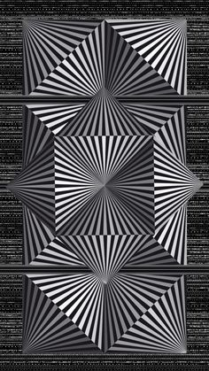 Color Optical Illusions, Optical Illusion Quilts, Illusion Drawings, Illusion Art, Geometric Drawing, Geometric Art, Black And White Illusions, Om Art, Space Artwork