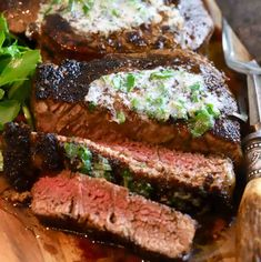 Steakhouse-Style Blackened Steak Recipe - Grits and Pinecones Bean Soup Recipes, Broccoli Recipes, Steak Recipes, Crockpot Recipes, Cooking Recipes, Blackened Steak Recipe, Garlic Herb Butter, Savory Herb, White Bean Soup