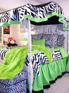 Zebra bedding for girls room - Really like this!