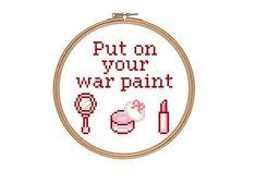 Funny MakeUp Beauty Quote Cross Stitch Pattern by RatherUnseamly, £2.00