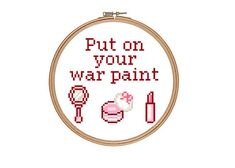 Funny MakeUp Beauty Quote Cross Stitch Pattern by RatherUnseamly, £2.00