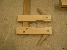 Shop made clamps.