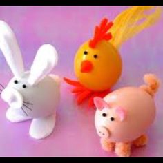 Decorate blown out eggs, cute craft for any time of year.