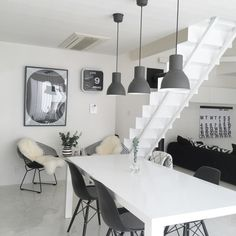 Interior Styling, Interior Design, Interior Ideas, Monochrome Interior, Natural Interior, Grey Room, Dining Room Inspiration, Dinning Table, Love Home