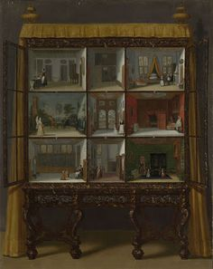 painting by Jacob Appel, Petronella Oortman's Doll's House, Rijksmuseum (c. 1710)