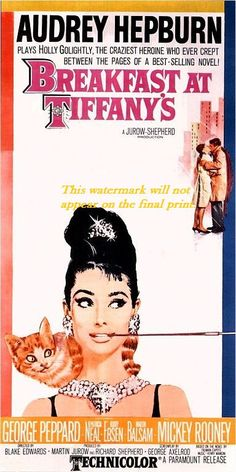 "Print of old Movie Film Poster - ""BREAKFAST AT TIFFANY'S"" - Audrey Hepburn on Etsy, $6.95"