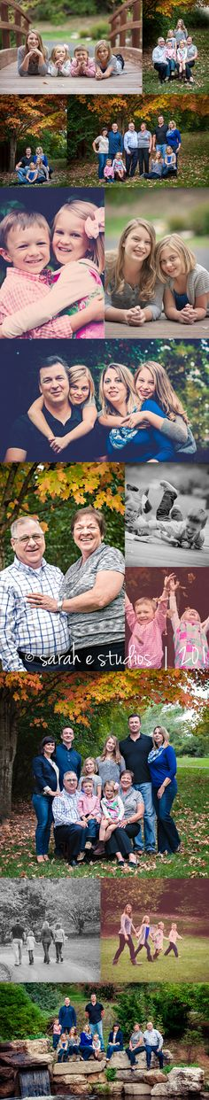 Some great positing ideas!  Fall Extended Family Photography Session.  |  Photos by Sarah E Studios, St. Louis, MO Newborn, Children, and Family Photographer
