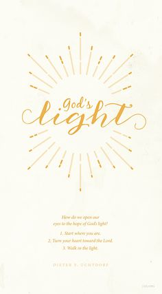 Three ways to feel God's light.