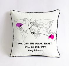 long distance girlfriend gift-xmas gift for by Pillow6218 on Etsy