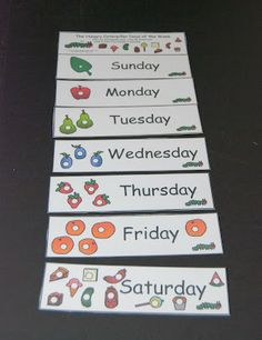 Those Who Care, Teach: Kindergarten- The Very Hungry Caterpillar: Days of The Week