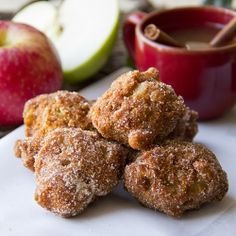 Old Mill, Apple Cider Hushpuppies with cinnamon-sugar