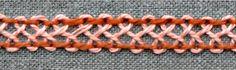 Category: line stitch family, back stitch group Use: borders, filling stitch Translations: Hexenleiter(-stich) (DE); point de piqûre croisé (FR); punto escapulario en escaleta (ES); Barra Entrelaçada (PRT) back to back stitch back to stitch-lexicon