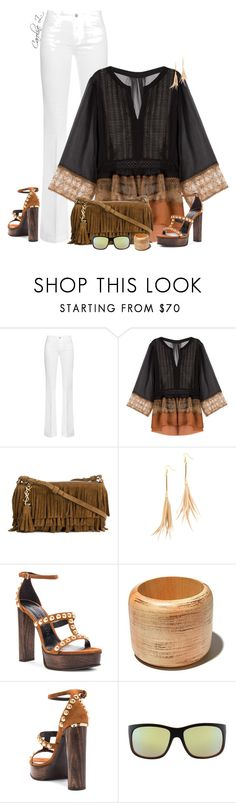 """Stella McCartney Flared Jeans"" by carolinez1 ❤ liked on Polyvore featuring STELLA McCARTNEY, Alberta Ferretti, Yves Saint Laurent, Fiona Paxton, Burberry and Tom Ford"
