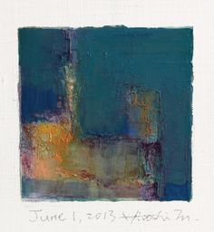 'June 1, 2013' (2013) from the '9x9 painting' series by Japanese abstract painter Hiroshi Matsumoto (b.1953). Oil on canvas, 9 x 9 cm. via the artist on flickr