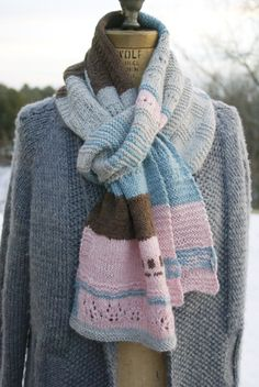 Modeled Scarf, donated to a local shelter.