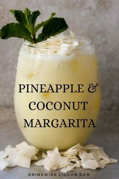 This Pineapple and Coconut Margarita is a unique twist on the classic Margarita. It's an easy to make cocktail that's perfect for any summer party. food and drinks If You Like Pina Coladas, You'll Love a Pineapple Coconut Margarita Easy To Make Cocktails, Fancy Drinks, Easy Summer Cocktails, Summer Drink Recipes, Food And Drinks, Tropical Drink Recipes, Liquor Drinks, Cocktail Drinks, Cocktail Movie