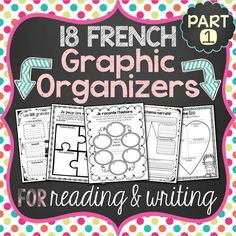 This file includes a variety of French graphic organizers (des organigrammes/organisateurs graphiques) for students to use to help them better organize their thoughts and ideas. Study French, Core French, Learn French, Graphic Organizer For Reading, Graphic Organizers, Teaching French Immersion, French Teaching Resources, Teaching Spanish, Spanish Activities