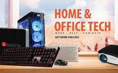 Gearbest es una comercio online de smartphones y electrónica en general. Ahora presenta una promoción con descuentos en tecnología para Hogar y Oficina.