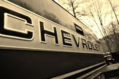 You become a Chevy girl when you dad works on them for a living :) <3