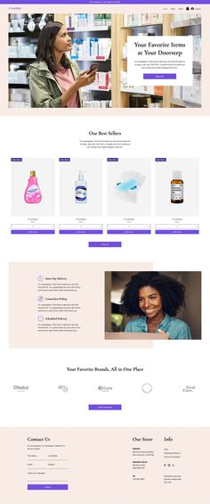 Online Personal Care Store | Website Template