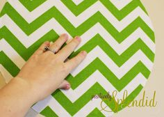 Custom Fabric Wall Decal Tutorial