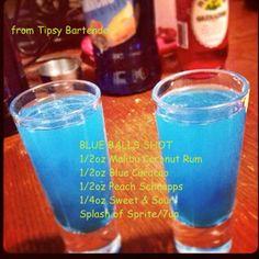 Tipsy Bartender Blue Balls Shot
