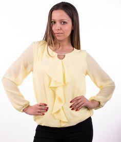 Bluză de damă Tatiana galben, Română