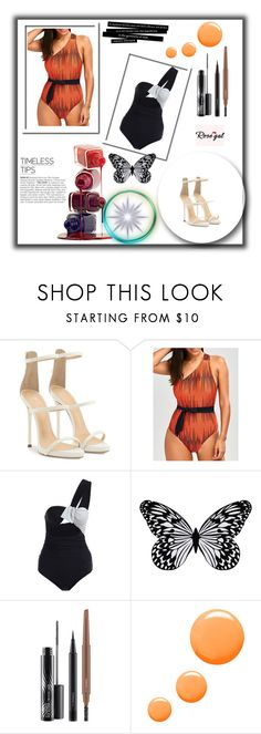 """contest"" by victorijajovic ❤ liked on Polyvore featuring Giuseppe Zanotti, Visionnaire, MAC Cosmetics and Topshop"