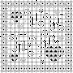 Choose your favorite Valentine colors. Free Cross Stitch Charts, Cross Stitch Freebies, Cross Stitch Needles, Cross Stitch Heart, Cross Stitch Cards, Counted Cross Stitch Patterns, Cross Stitch Designs, Cross Stitching, Cross Stitch Embroidery
