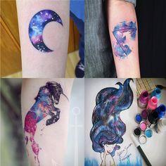 Petites Vaidades: Inspiração: tatuagens em aquarela