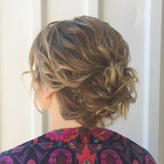 Loose Updo For Beach Waves in Short Hair