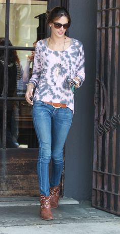Alessandra Ambrosio Citizens of Humanity Racer Jeans in Slash - love these!