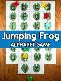 This jumping frog alphabet game by PreKinders is fun for learning beginning sounds. You will need these printables and. a set of plastic jumping frogs and that's it! This is an inexpensive and effective game for your kids. Frog Activities, Preschool Learning Activities, Learning Games, Reading Activities, Preschool Ideas, Teaching Resources, Teaching The Alphabet, Alphabet Activities, Preschool Alphabet