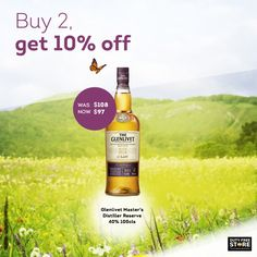 Save 10% on this classy Whisky. Just buy two bottles.