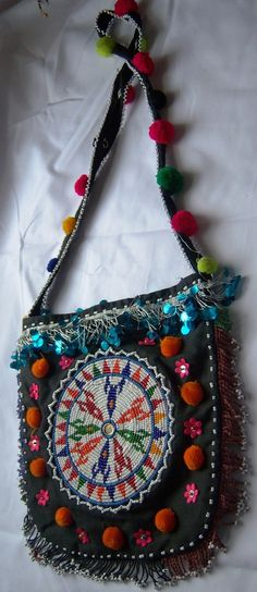 beaded bag - reminds me of the bags we carried in the '60s..