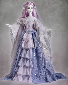 Amelia Whistle-Wickham Ghastly, the ghostly great-great-grandmother of Evangeline Ghastly, created by Tonner Doll / Wilde Imagination, produced in 2016. Limited edition of 225 dolls