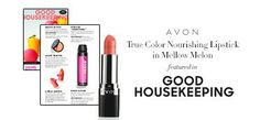 Get your @avoninsider True Color Nourishing Lipstick in Mellow Melon as seen in the July issue of @goodhousemag! #AvonRep