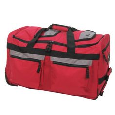 """Olympia Luggage 26"""" 8 Pocket Rolling Duffel Bag >>> For more information, visit"""