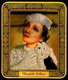 German Cigarette Card - Claudette Colbert