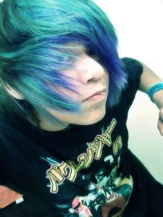 emo guys with colored hair - Google Search