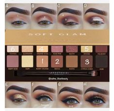 ✨A new step by step pictorial using the ABH SOFT GLAM palette✨ EOTD deets … ✨A new step by step pictorial using the ABH SOFT GLAM palette✨ EOTD deets ✨ Anastasia Beverlyhills dipbrow pomade in dark brown & soft glam… - Das schönste Make-up Eye Makeup Glitter, Glam Makeup, Eyeshadow Makeup, Makeup Box, Makeup Ideas, Brown Makeup, Purple Eyeshadow, Dark Makeup, Airbrush Makeup