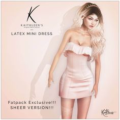 https://flic.kr/p/SRRP8R | Kaithleen's Latex Mini Dress for MBA | Kaithleen's Latex Mini Dress for MBA  - 100% original mesh - Maitreya Lara, Belleza Freya-Isis and Venus, Slink body  Take taxi and check this out : maps.secondlife.com/secondlife/Meds/59/200/23