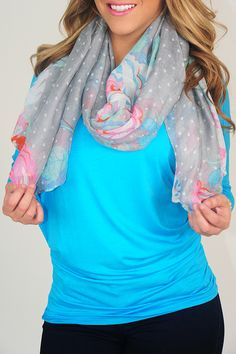 April Showers Scarf: Multi | Hope's - Use the promo code HOLLIREP to get 10% off of EVERY order plus get FREE SHIPPING always!